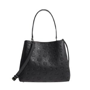 Mcm Sara Leather Black Convertible Tote 2018